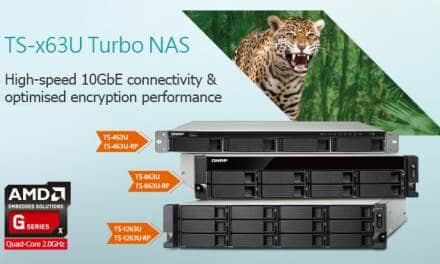 QNAP Launches AMD-powered Quad-core 2.0GHz 10GbE TS-x63U Series NAS