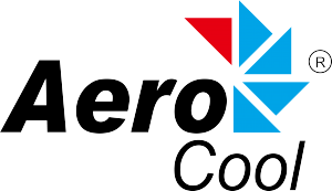Aerocool logo with R-white backgroung