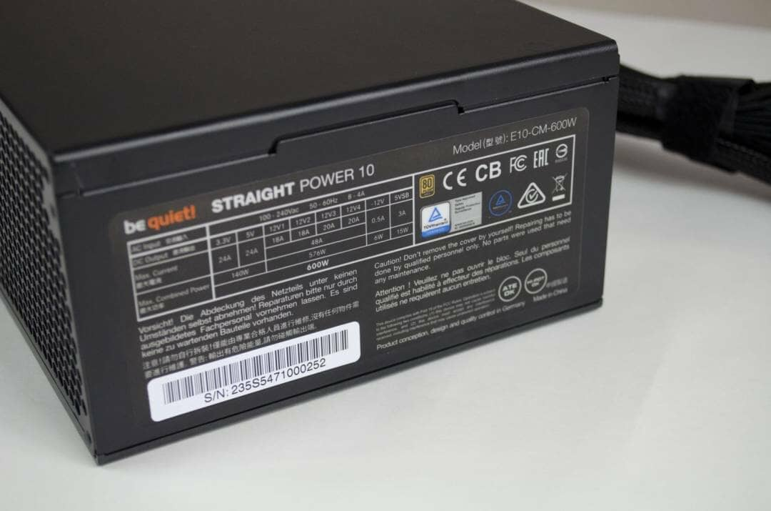 be quiet! Straight Power 10 600W Power Supply_9