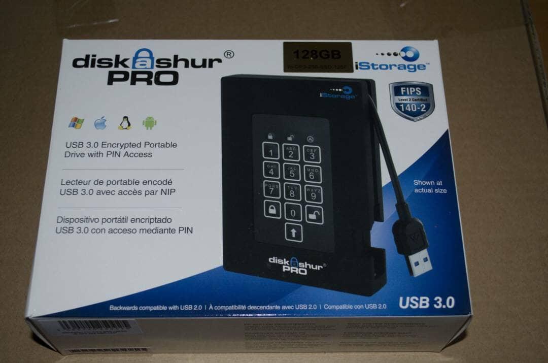 iStorage diskAshur Pro portable encrypted USB 3 hard drive