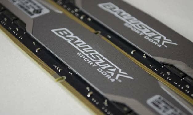 Crucial Ballistix Sport 16GB(2×8) DDR4 2400Mhz Memory Review