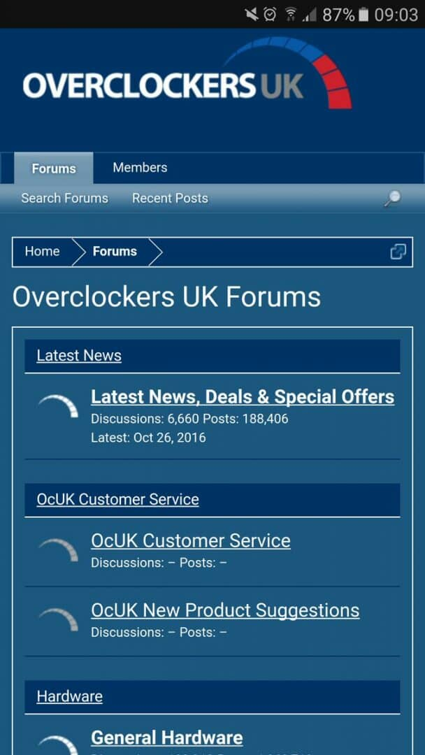Overclockers UK Mobile Friendly Forum Coming Soon?