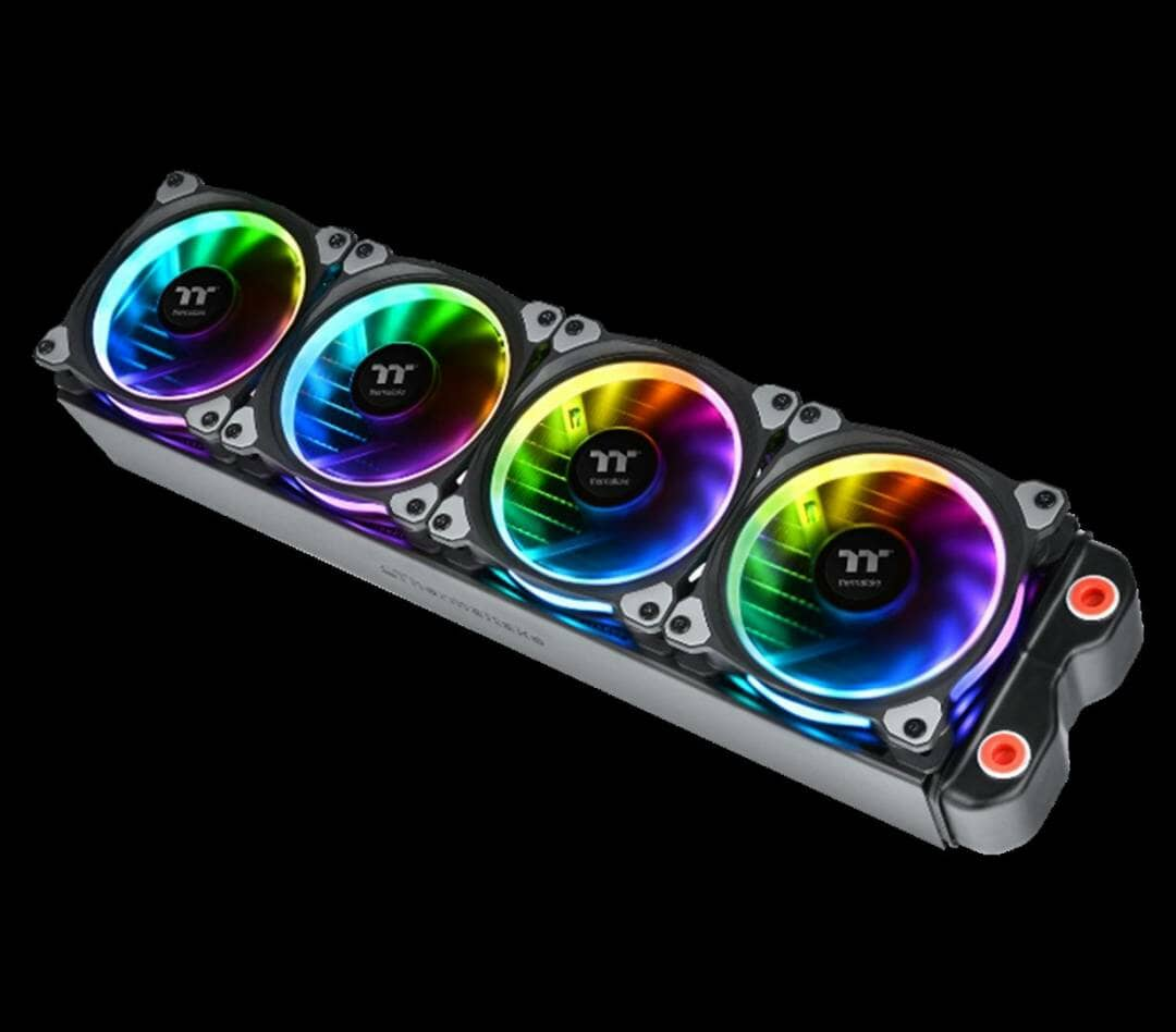 Thermaltake New Riing Plus 12 LED RGB Radiator Fan-Anti-Vibration Mounting System