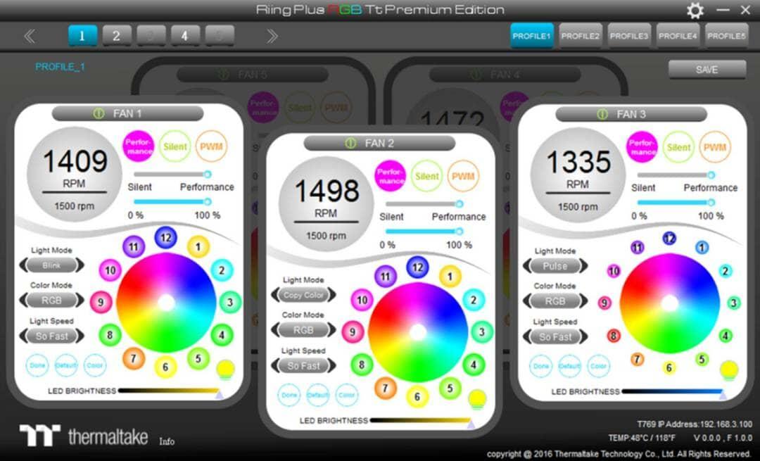 Thermaltake New Riing Plus 12 LED RGB Radiator Fan-Patented Riing Plus RGB Software