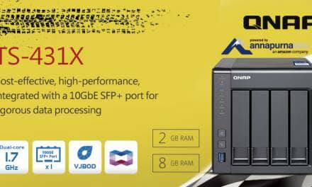 QNAP Launches TS-431X – 4-bay Entry-level Business NAS with Built-in 10GbE SFP+ Port