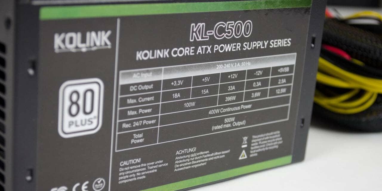 Kolink Core Series 500W PSU Overview