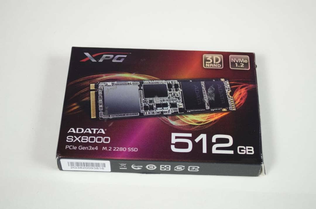 ADATA XPG SX8000 PCIe M.2 2280 512GB SSD Box