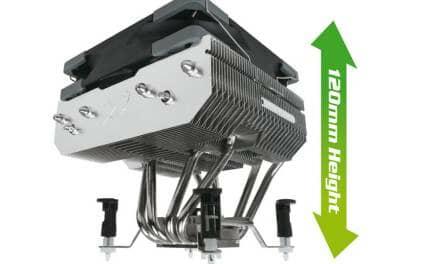 Scythe presents Choten Top-Flow CPU Cooler with 120 mm height
