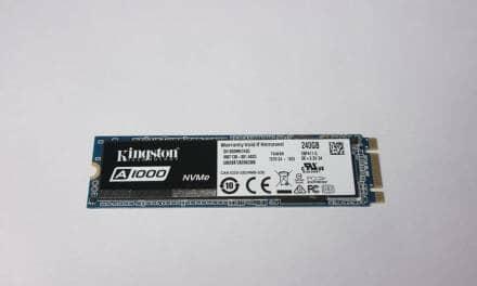 Kingston A1000 240GB NVMe PCIe M.2 SSD Review