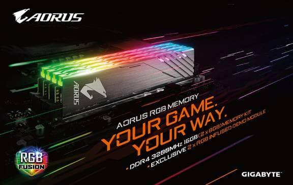 GIGABYTE Lights Up DRAM Market With AORUS RGB Memory