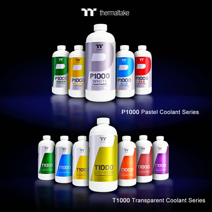 Thermaltake New Coolant P1000 Pastel and  T1000 Transparent at CES 2019
