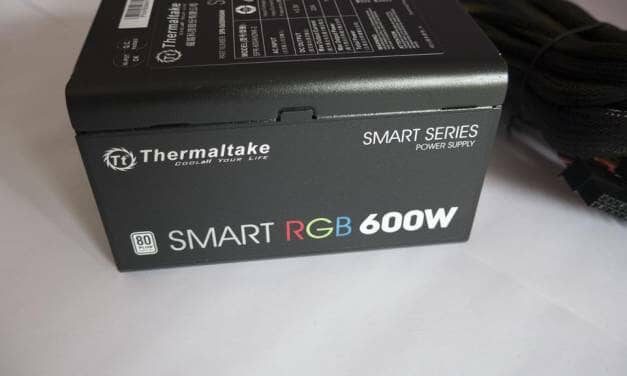 Thermaltake Smart RGB 600W Power Supply Overview