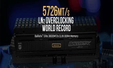 Micron Memory Sets New DDR4 Overclocking World Record