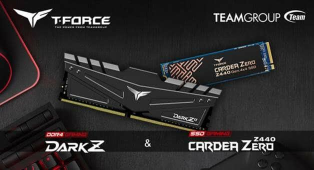 TEAMGROUP T-FORCE Releases Gaming Memory and PCI-E Gen4 x4 M.2 Solid State Drive