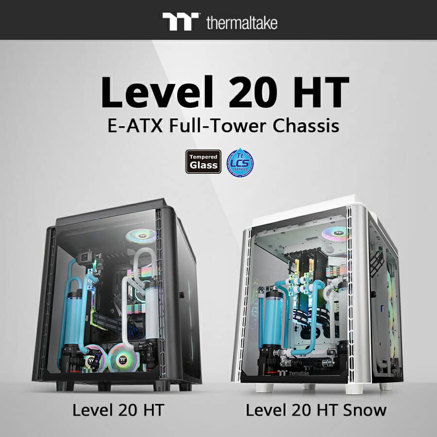 Thermaltake Releases Level 20 HT/HT Snow Edition Full Tower Chassis