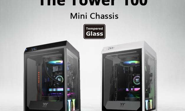 Thermaltake Announces the Tower 100 Mini Chassis