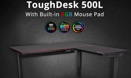 Thermaltake Introduces  the ToughDesk 500L RGB Battlestation Gaming Desk