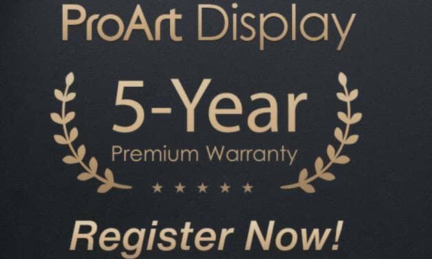 ASUS UK Announce ProArt Display Five-Year Warranty