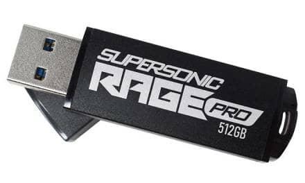 Patriot launches Supersonic Rage Pro USB 3.2 Gen.1 Flash Drive