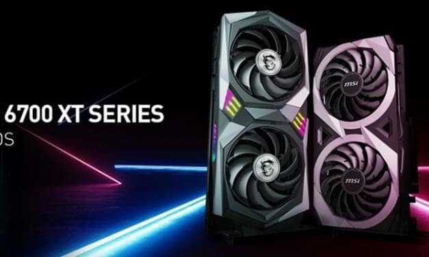 MSI unveils custom Radeon RX 6700 XT graphics cards