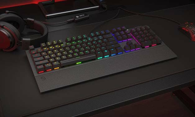 SPC Gear GK650K Omnis full-size keyboard with palm rest & clever customization