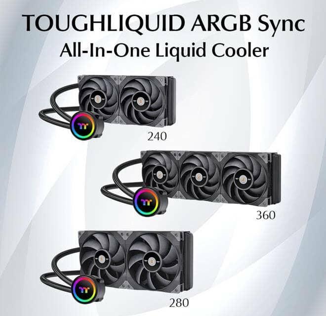 Thermaltake Announces TOUGHLIQUID 240/280/360 ARGB Sync All-In-One Liquid Coolers