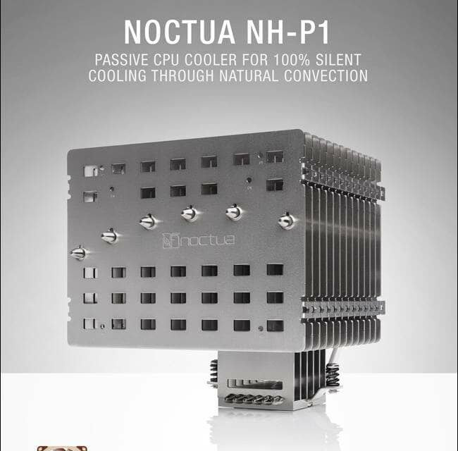 Noctua introduces NH-P1 passive CPU cooler and LS-PWM fan for semi-fanless systems