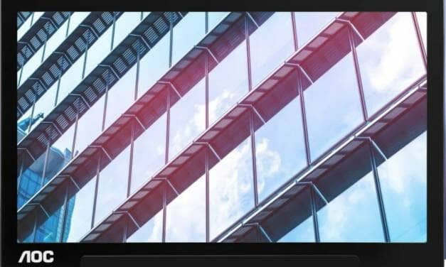 "AOC launches 15.6"" portable monitor I1601P"