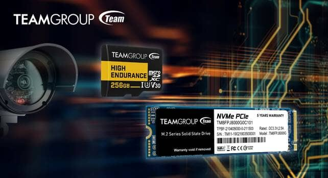 TEAMGROUP Announces the 8TB MP34Q M.2 PCIe SSD and HIGH ENDURANCE Surveillance System Memory Card
