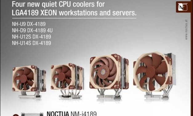 Noctua presents CPU coolers for Intel's LGA4189 Xeon platform