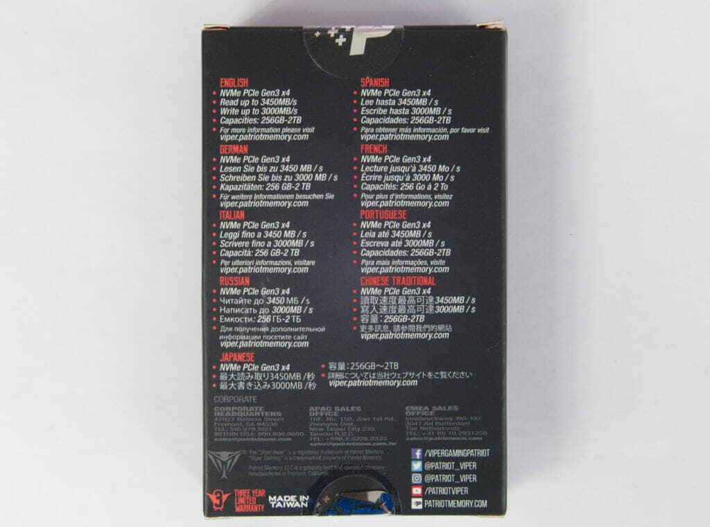 Viper VPN100 PCIe M.2 SSD Box back