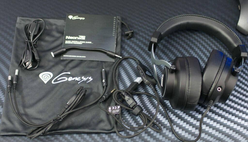 Genesis Neon 750 RGB Gaming Headset accessories