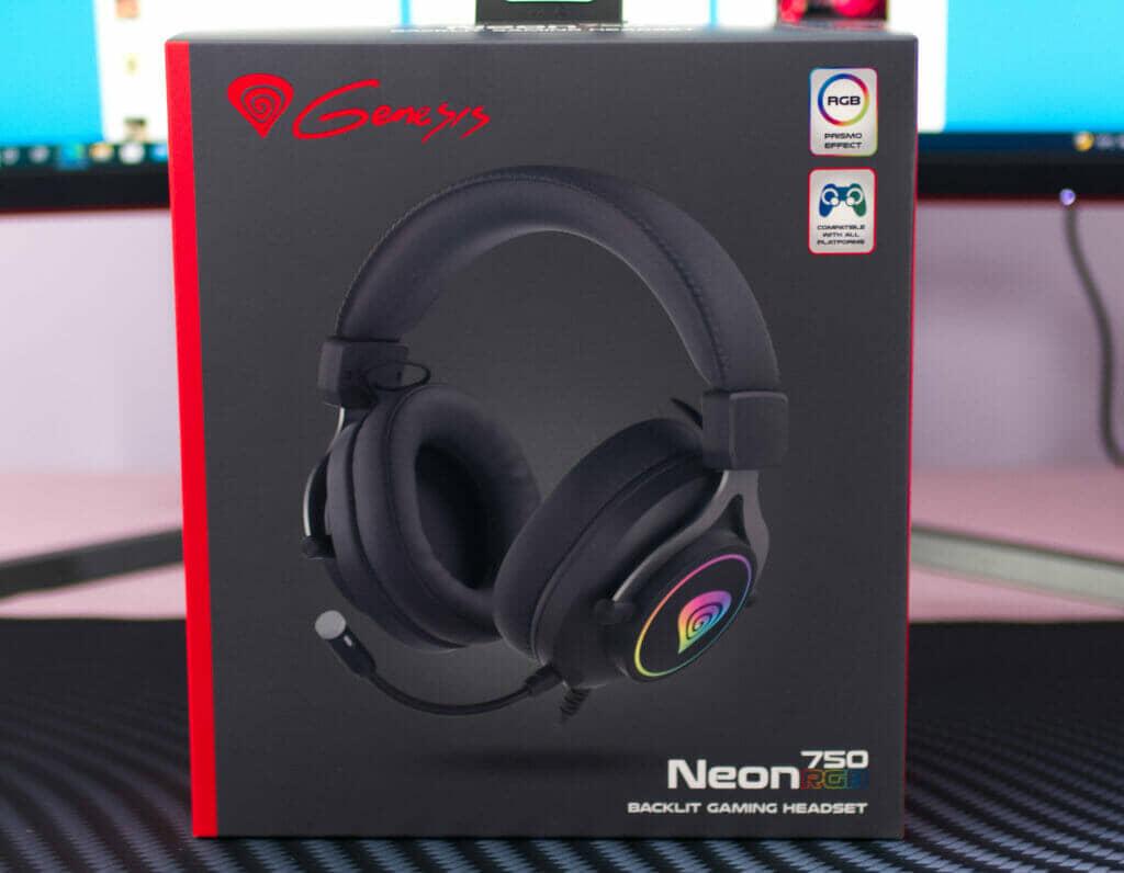 Genesis Neon 750 RGB Gaming Headset box front