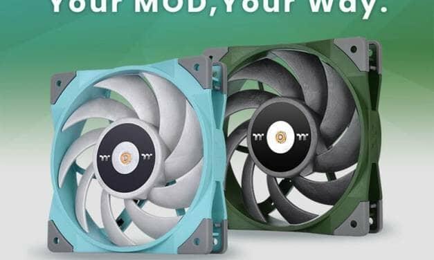 Thermaltake Debuts TOUGHFAN 12 High Static Pressure Radiator Fan in Turquoise and Racing Green