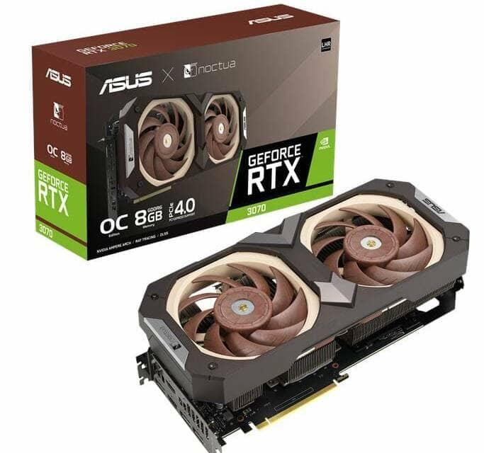 ASUS and Noctua Announce ASUS GeForce RTX 3070 Noctua Edition Graphics Card